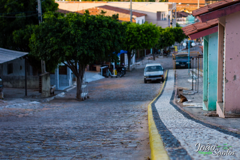 Meios fios de toda a cidade recebem pintura – Foto: João Santos