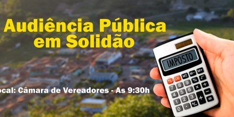 Prefeitura promovera importante Audiência Pública em Solidão