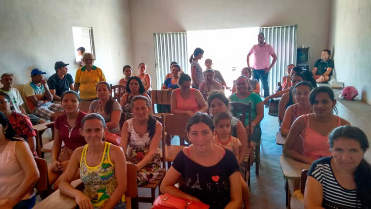 Comunidade de Macambira durante o encontro – Foto: Divulgação
