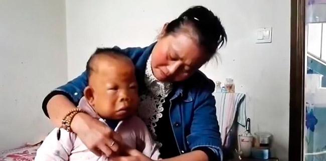 """Chu, tem um sonho de ouvir Tianfang falar """"mamãe"""" – Foto: Reprodução"""