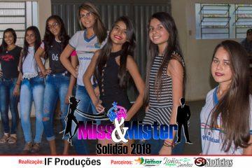 Candidatas e candidatos a Miss e Mister Solidão 2018 realizam o primeiro ensaio