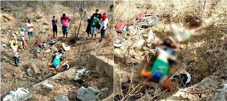 Vítimas no local do acidente – Imagem enviada pelo WhatsApp – Foto: Reprodução