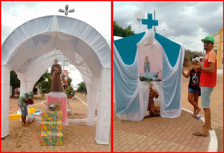 Ornamentações feitas pela equipe da secretária de Cultura – Foto: Divulgação
