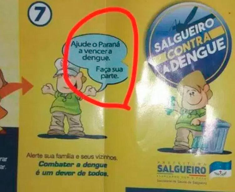 Panfleto com arte da campanha do Paraná – Foto Reprodução