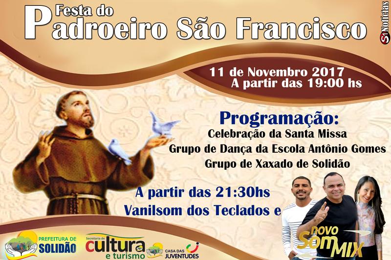 Programação da Festa do Povoado São Francisco de Solidão