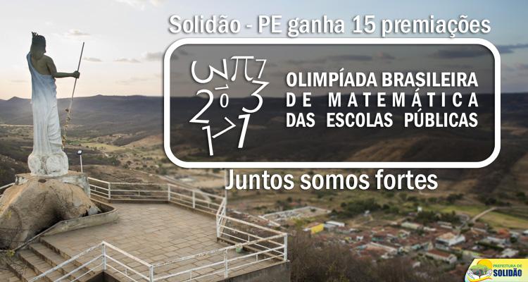 Solidão se destaca na OBMEP 2017 com 15 premiações