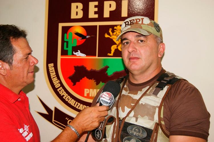 Capitão Pedro Morais, da equipe do BEPI – Foto: Reprodução