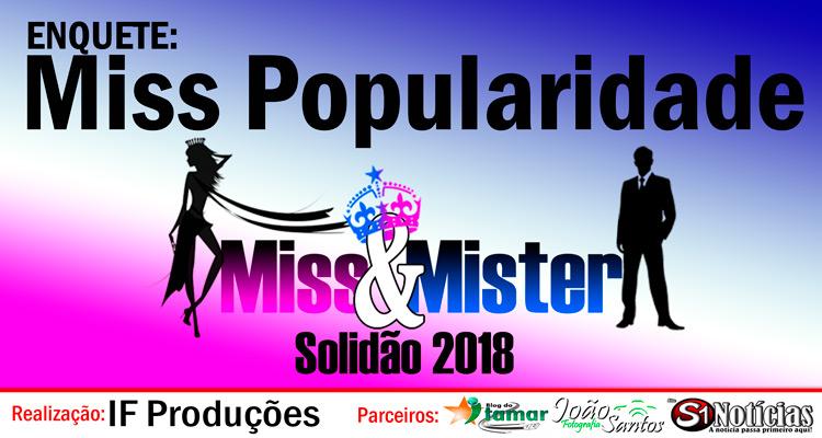 Votação para a Miss Popularidade Solidão 2018