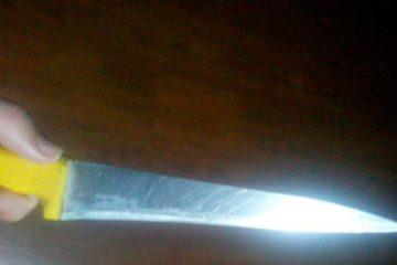 O acusado foi flagrado portando uma faca peixeira – Imagem Ilustrativa – Foto: Reprodução