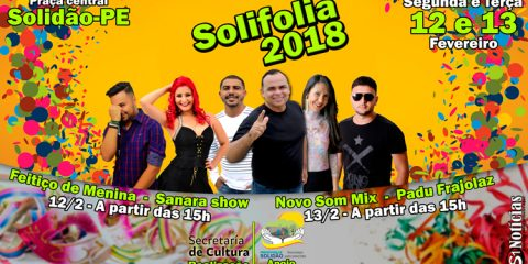 Banner do Solifolia 2018 – Foto: João Santos/S1 Notícias