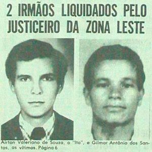 """A primeira menção de Chico Pé de Pato no """"Notícias Populares"""", em 15 agosto de 1985, dava conta do assassinato de dois irmãos – Foto: Folhapress"""