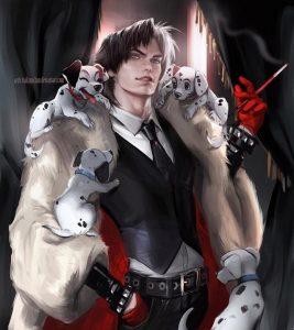 Versão masculina de Cruela Devil - Por Sakimi Chan