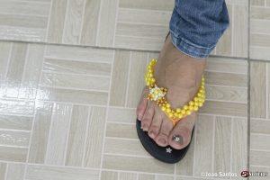 Oficina de customização de chinelos em Solidão
