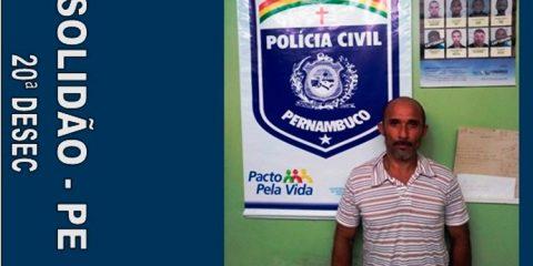 Polícia prende acusado de estupro de vulnerável em Solidão