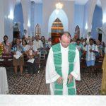 Prefeitura de Solidão e funcionários na missa do mês Mariano– Foto: João Santos/ S1 Notícias