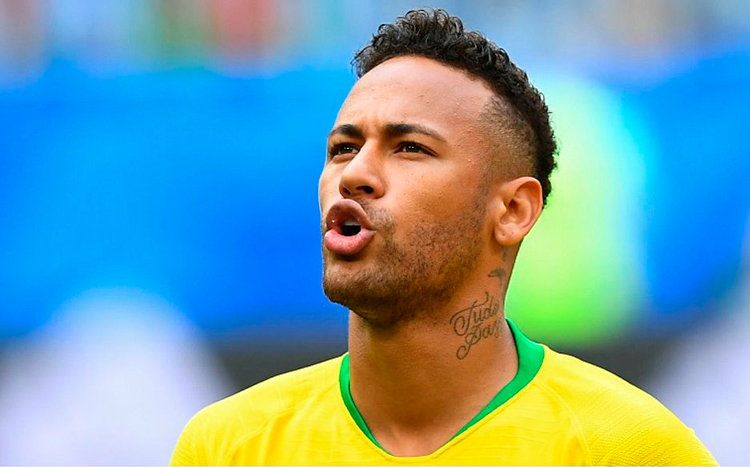 Neymar igualou marca de Bebeto e Rivellino em sua segunda Copa do Mundo - Foto: Manan Vatsyayana/AFP