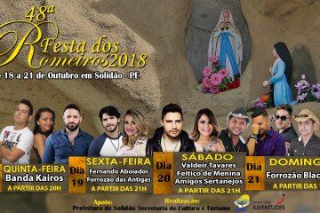 Cartaz da 48ª Festa dos Romeiros 2018 Solidão – Foto: João Santos