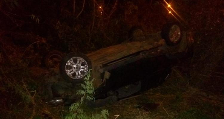 Veículo capotado em Tabira – Foto: Reprodução