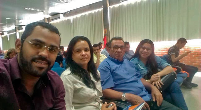 Prefeito Djalma Alves, Mauricio Batista, Adriana Silva e Emannuelle Winni – Foto: Reprodução