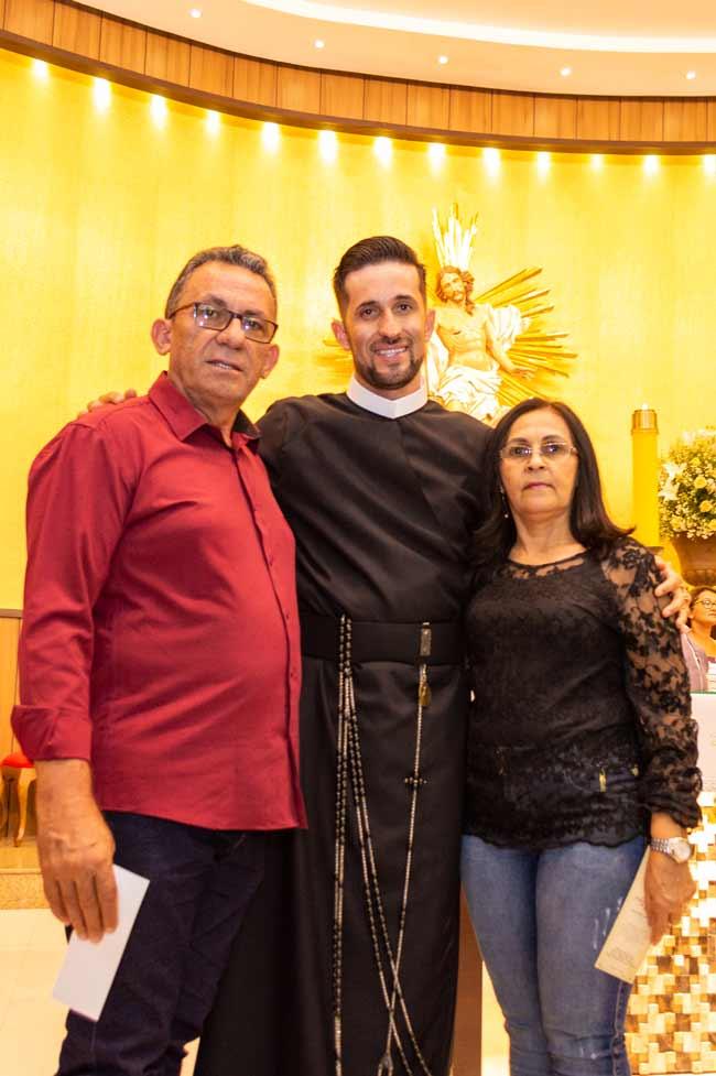 Prefeito Djalma Alves, Frater Alosman e a Primeira dama Irene –Foto/JoãoSantos