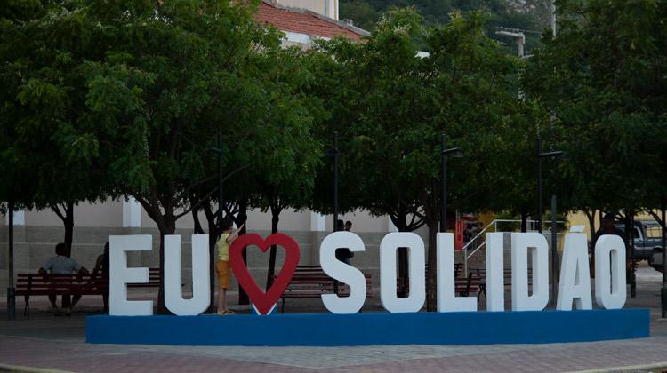 O letreiro destaca e evidencia o nome do município e tem atraído olhares – Foto/João Santos/S1Noticias