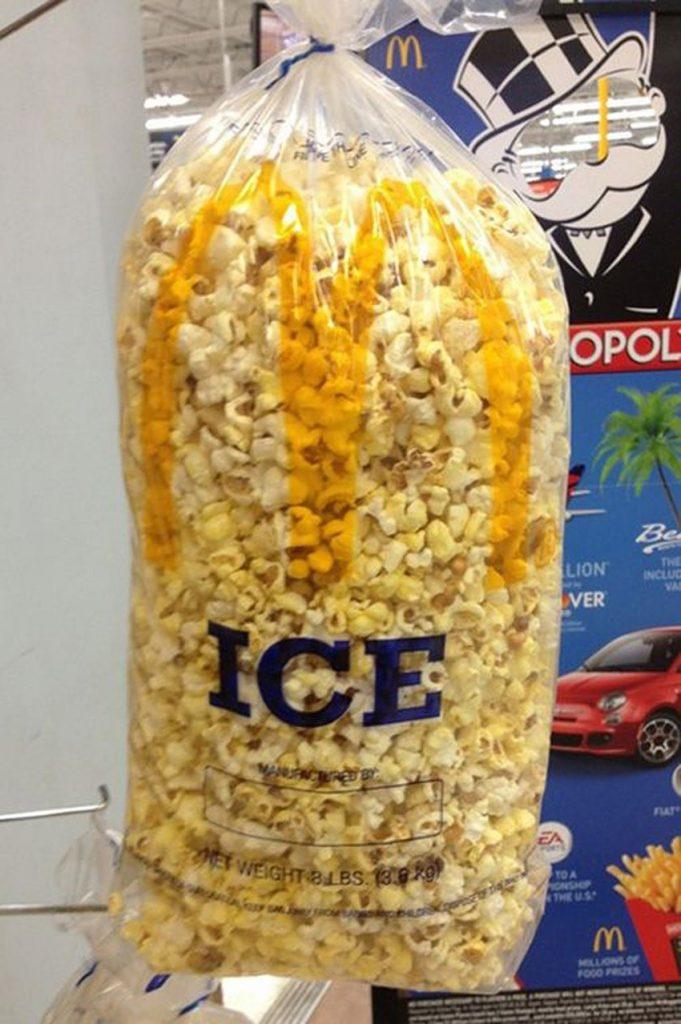 10 - Ou o conteúdo improvável deste saco de gelo