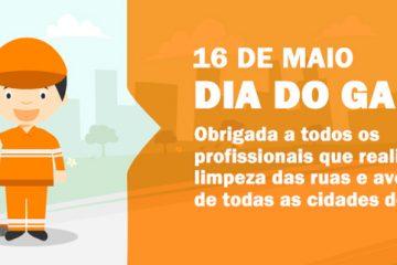 16 de maio – Dia do Gari
