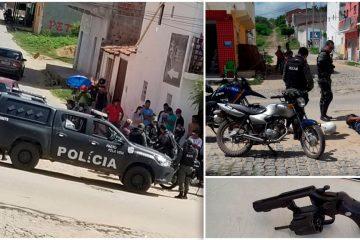 Ação rápida da Polícia prende dois homens armados em Tabira