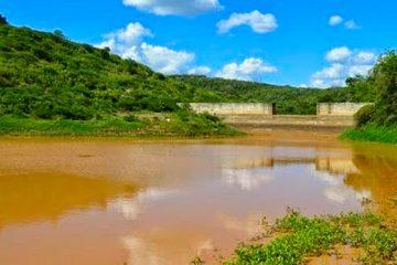 Barragem Nossa Senhora de Lourdes, a principal fonte hídrica da compesa, hoje com 55% de sua capacidade hídrica total – Foto: João Santos/ S1 Notícias
