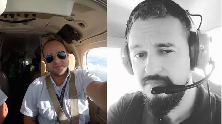 Abraão Farias e Linaldo Xavier, diretores do Aeroclube de Alagoas, pilotavam o avião onde estava o cantor Gabriel Diniz, e que caiu no interior de Sergipe — Foto: Reprodução/Facebook