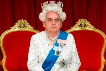 Nos memes, Bolsonaro já virou rainha da Inglaterra
