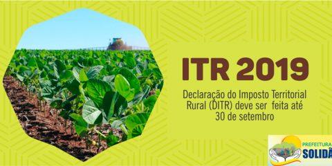 ITR 2019: Declaração de Propriedade Rural começa hoje em Solidão