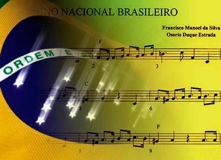 6 de setembro - Dia de oficialização da letra do hino nacional