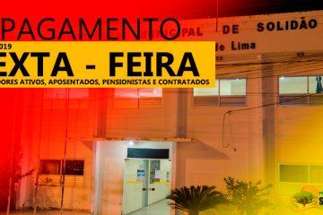 Prefeitura de Solidão confirma pagamento de setembro de 2019