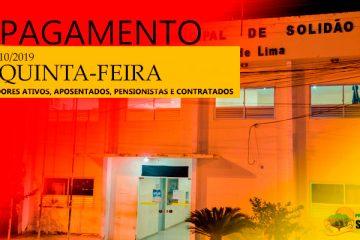 Prefeitura de Solidão confirma pagamento de outubro de 2019