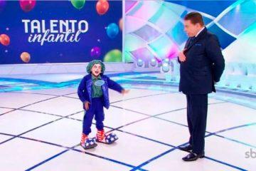 Criança paraibana de Imaculada é destaque no Programa Silvio Santos, no SBT