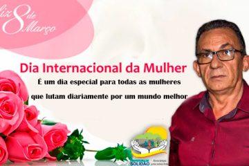 Mensagem do Prefeito Djalma Alves as mulheres solidanenses