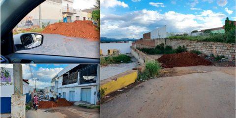 Serra Talhada usa barreiras de terra em combate ao Covid-19