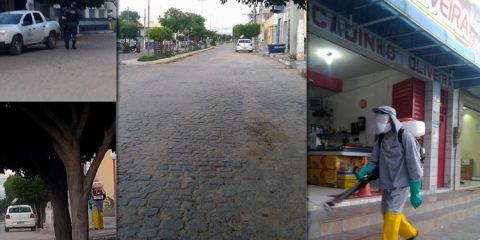 Prefeitura faz desinfecção de ruas em Solidão