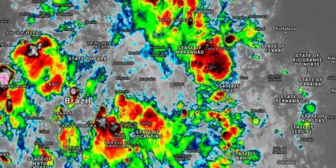 Fenômeno segue agindo no Agreste e Sertão, e Apac renova alerta de chuvas fortes