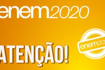 Inep divulga cartão de confirmação com local de prova do Enem 2020