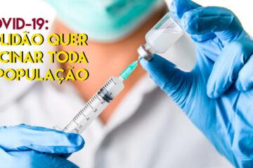 Em Solidão idosos de 70 a 74 anos são vacinados contra a Covid-19
