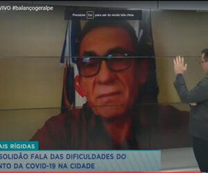 Prefeito Djalma Alves fala ao vivo para o Balanço Geral da dificuldade do enfretamento da Covid-19