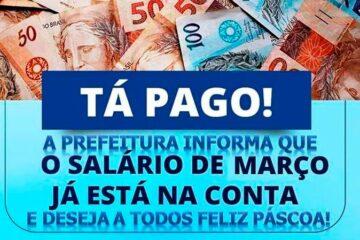 Prefeitura de Solidão confirma pagamento de Março