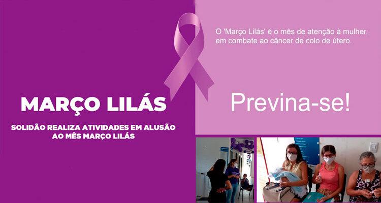 Secretaria Municipal de Saúde de Solidão realiza atividades em alusão ao mês março lilás