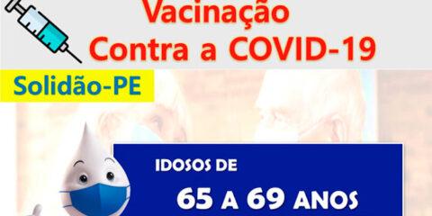 Solidão começa a vacinar idosos de 65 a 69 anos contra a Covid-19