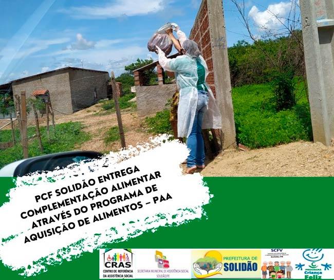 Em Solidão Cras entrega complementação alimentar para famílias de vulnerabilidade social