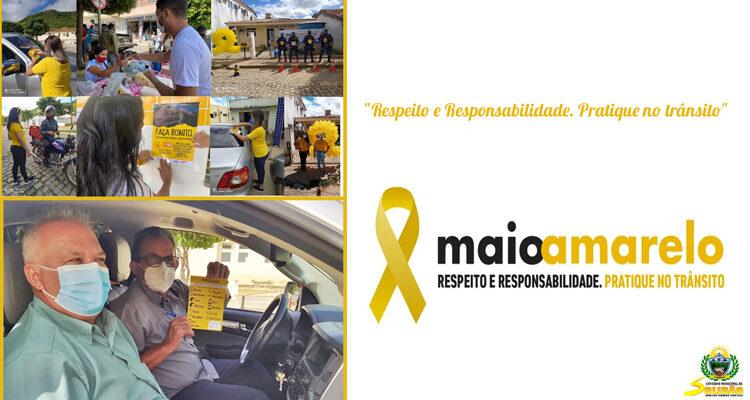 """Em Solidão é realizado a """"Blitz Educativa"""" em alusão ao mês maio amarelo"""