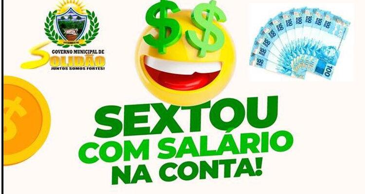 Prefeitura de Solidão confirma pagamento de Maio 2021