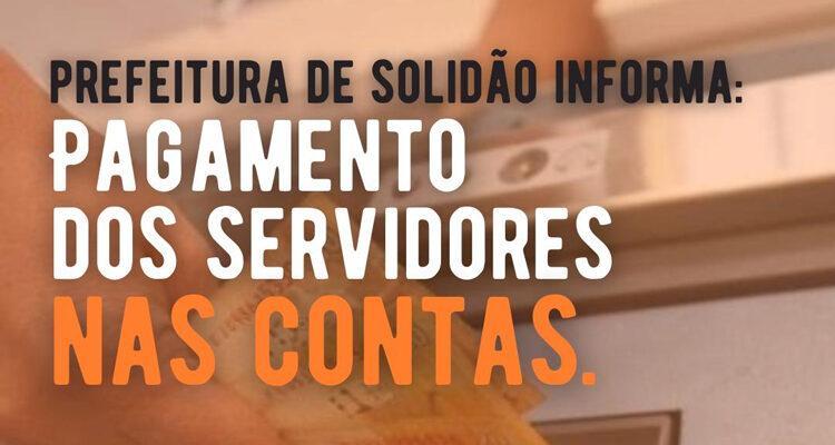 Prefeitura de Solidão confirma pagamento de junho 2021